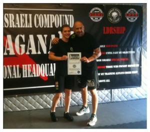 Susan Awarded with Her HaganaH Instructor Cert.